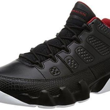 Nike Jordan Men's Air Jordan 9 Retro Low Black/Gym Red/White Basketball Shoe 11 Men US