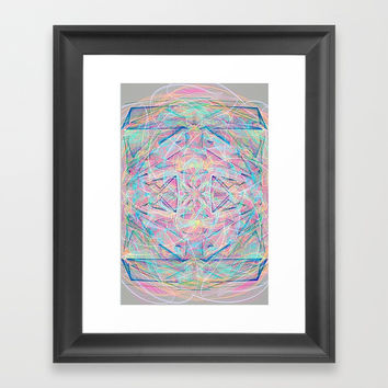 colorful rain Framed Art Print by celiariani