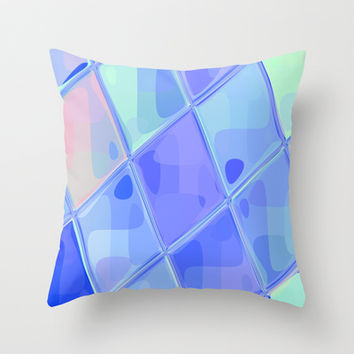 Re-Created Mirrored SQ LXXXII Throw Pillow by Robert S. Lee