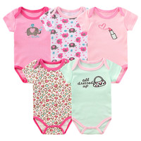 5pcs/lot Summer Baby Bodysuits Body Bebes For Babies Boy Girl Baby Clothes Roupas Infant Bodysuit Baby Clothing Cartoon Overalls