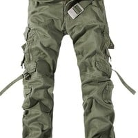 Jeansian Men's Casual Military Army Cargo Camo Combat Work Pants J201