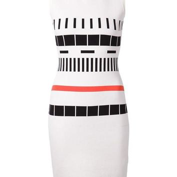 DCCKIN3 Narciso Rodriguez geometric pattern fitted dress