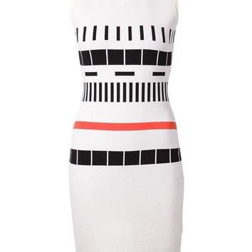 VONEG8Q Narciso Rodriguez geometric pattern fitted dress