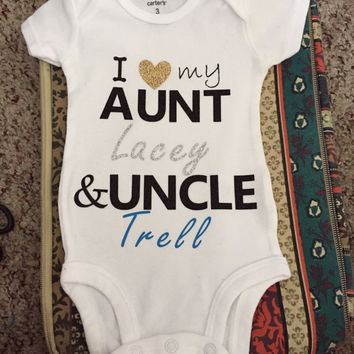 I Love my aunt and uncle personalized top