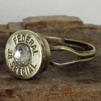 Bullet Ring Federal 38 SPL Crystal by ShellsNStuff on Etsy