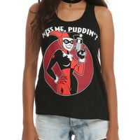 DC Comics Harley Quinn Miss Me Girls Tank Top