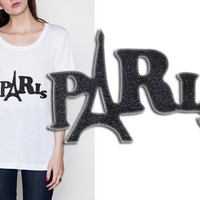 Iron On T Shirt Patch Applique PARIS
