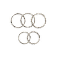 THE BALL CHAIN RING SET- SILVER OX