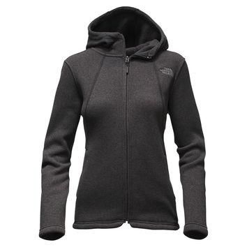 Women's Crescent Full Zip Hoodie in TNF Black by The North Face - FINAL SALE