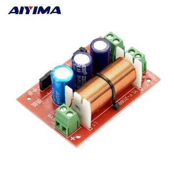 ac NOOW2 Aiyima 1PC Adjustable Multi Speaker Treble/Bass 2 Unit Audio Frequency Divider 2 Way Crossover Filters 400W