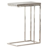 Louise Chairside End Table Gray - Steve Silver Co.