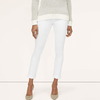 Curvy Cuffed Cropped Jeans in White