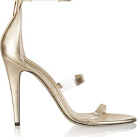 Tamara Mellon - Frontline metallic leather and PVC sandals