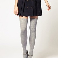 ASOS | ASOS Wool Cable Over The Knee Socks at ASOS