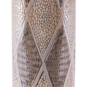 Pearl Short Cylinder Vase Brown