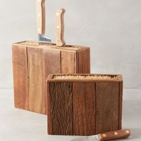 Bamboo Knife Block by Anthropologie