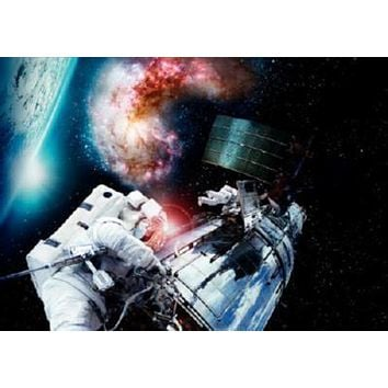 Hubble Imax 3D poster Metal Sign Wall Art 8in x 12in