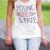 Young and Free Tank Top