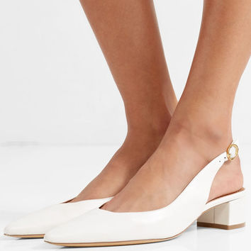Mansur Gavriel - Leather slingback pumps