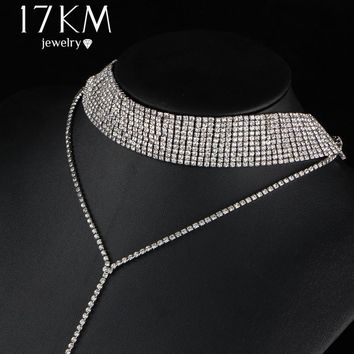 17KM Crystal Choker Necklace for Women
