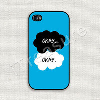 iPhone 4 Case, iPhone 4s Case, iPhone 4 Cover, iPhone 4s Cover, Hard iPhone Case, Fault In Our Stars Okay