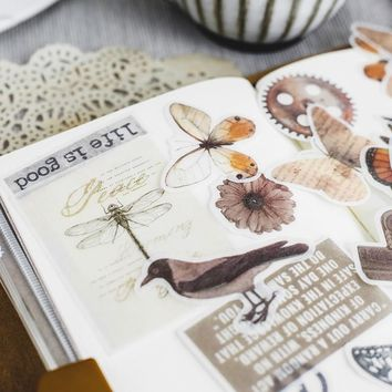 Time Steal Decorative Stickers Scrapbooking Stick Label Diary Stationery Album Stickers