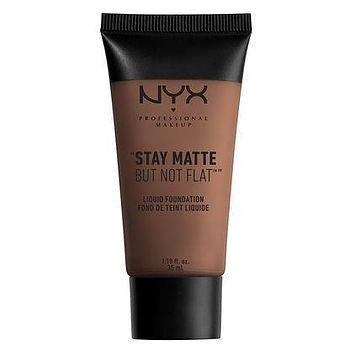 NYX Stay Matte But Not Flat Liquid Foundation - Deep Dark - #SMF20