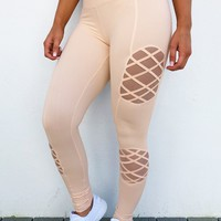 Stay Strong Pants: Peachy Nude