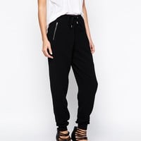 New Look Crepe Zip Cuff Jogger