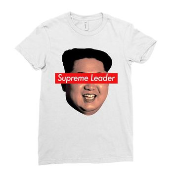 Supreme Leader Kim Jong Un Ladies Fitted T-Shirt