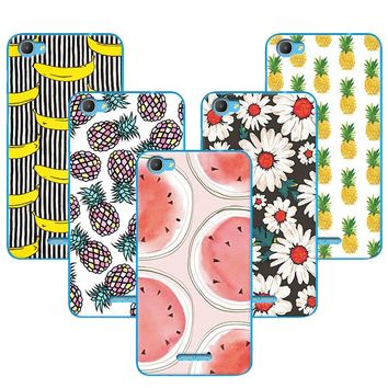 Fruit Art Printing Banana Minions Case For Alcatel Pixi 4 Plus Power 5023E 5023F Back Cover Shell For Alcatel Pixi 4Plus Power