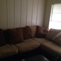 Light Brown sectional couch