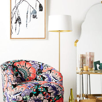 Liberty for Anthropologie Feather Bloom Amoret Swivel Chair