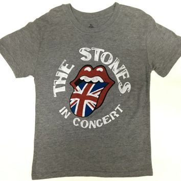 Boy's Youth ROLLING STONES UNION JACK TONGUE T-Shirt NWT 100% Authentic
