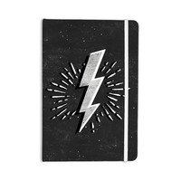"KESS Original ""Bolt"" Black White Everything Notebook"