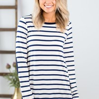 Make You Think Striped Top- 2 Options