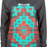 Chick&Stylish - FULL TILT Ethnic Print Womens Oversized Sweatshirt