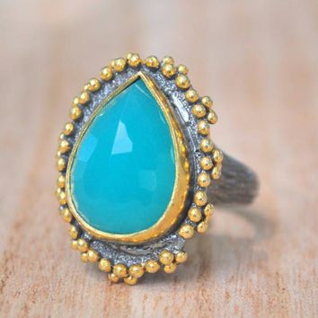 Leli Ring - Blue Chalcedony