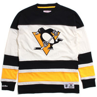 Pittsburgh Penguins Changing On The Fly Longsleeve Jersey Black / Yellow