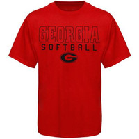 Georgia Bulldogs Frame Softball T-Shirt - Red