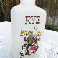 Vintage Bottle  Rye Whiskey Decanter