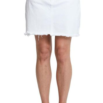 Blank NYC White Cut Off Skirt