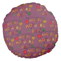 Colorful Happy Mothers Day Pillow for Mother