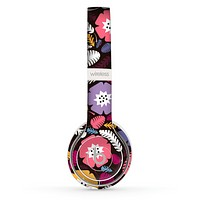 The Colorful Hugged Vector Leaves and Flowers Skin Set for the Beats by Dre Solo 2 Wireless Headphones