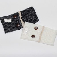 Button that Lace Ear Warmers