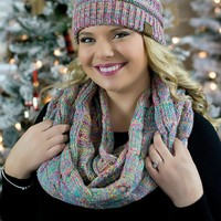 CC Cotton Candy Scarf and Beanie Set