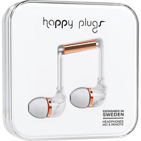 Happy Plugs In- Ear Earbuds - White Marble Rose