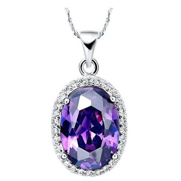 925 Crystal Silver Pendant = 5839534017