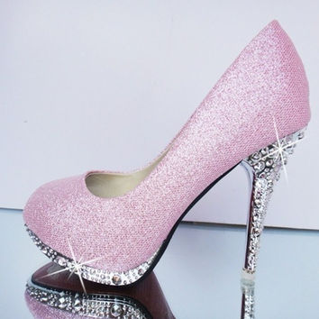 Glitter Bottom High Heeled Pumps