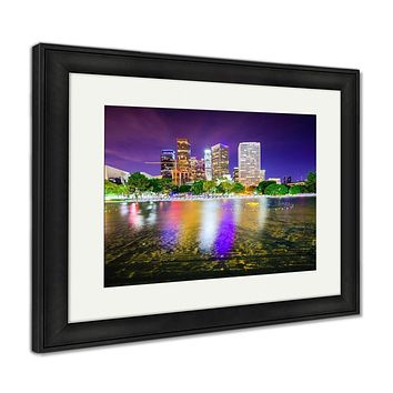 Framed Print, Los Angeles California USA Downtown City Skyline